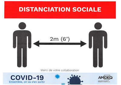 COVID-19 Distanciation sociale